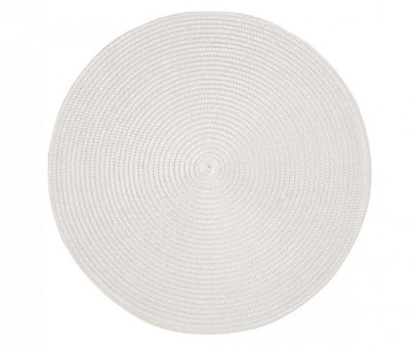 Podkładka / mata na stół Słomkowa biała 38 cm