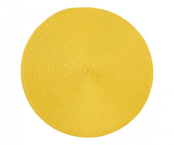 Podkładka / mata na stół słomkowa okrągła Żółta 38 cm
