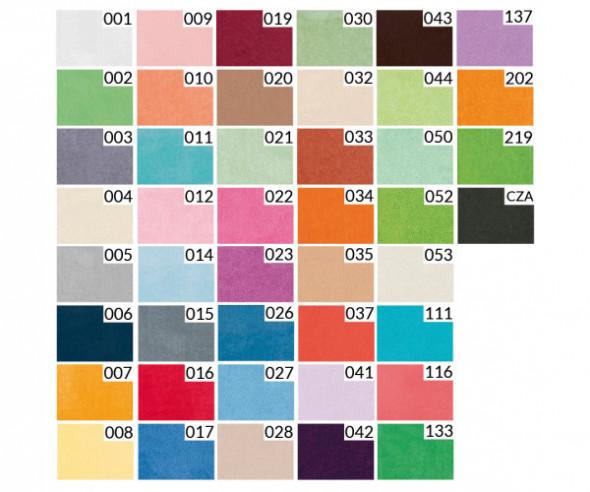 Prześcieradło frotte z gumką (kolor biały) PRZESC/FRG/001/120200/1