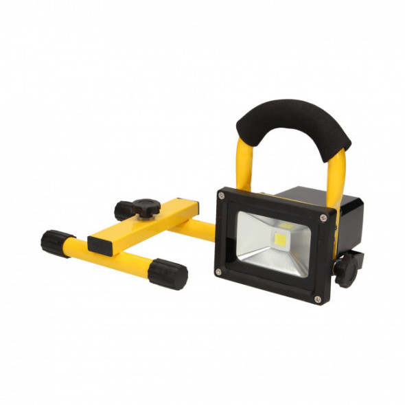 ROBOTIX LED COB 10W naświetlacz roboczy, przenośny z akumulatorem, 600lm, IP44, 6000K,  2200mAh,