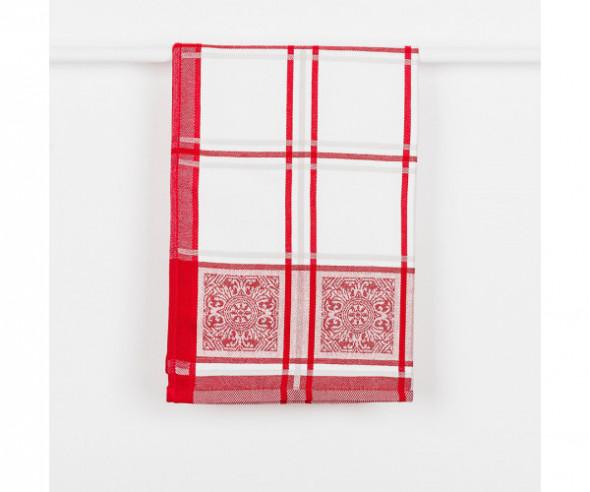 Ścierka kuchenna MAJOLICA kolor czerwony 50x70 cm.
