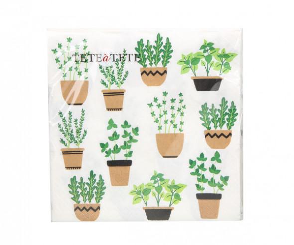 Serwetki papierowe AKU kaktusy 20 sztuk