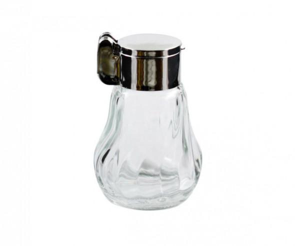 Solniczka / pieprzniczka szklana Skofil Spiralna metalizowana z klapką