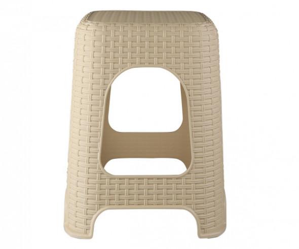 Taboret /stołek plastikowy Bentom Rattan beżowy
