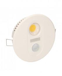 TOBIA LED 7W, oprawa z czujnikiem ruchu, 700lm, IP20, 3000K, biała