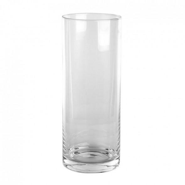 Wazon na kwiaty / świecznik szklany cylinder Edwanex 40 cm