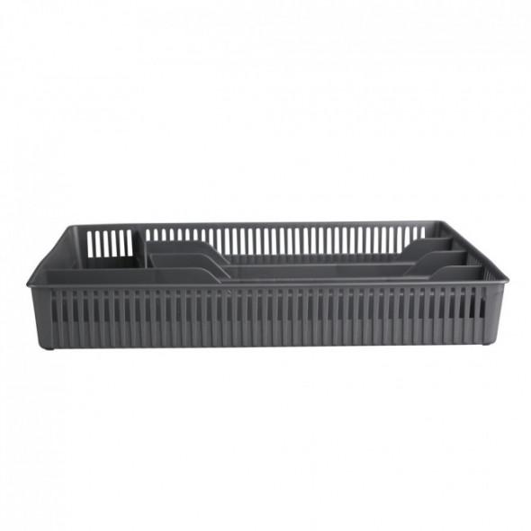 Wkład do szuflady / organizer kuchenny na akcesoria Bentom ażurowy srebrny