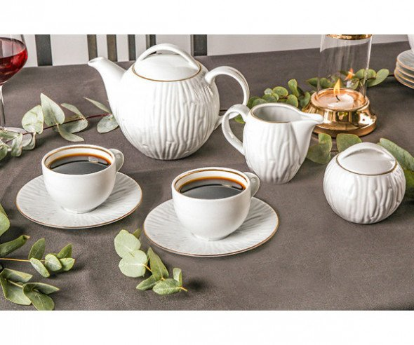 Zestaw kawowy dla 6 osób MariaPaula Natura Złota Linia 15 el