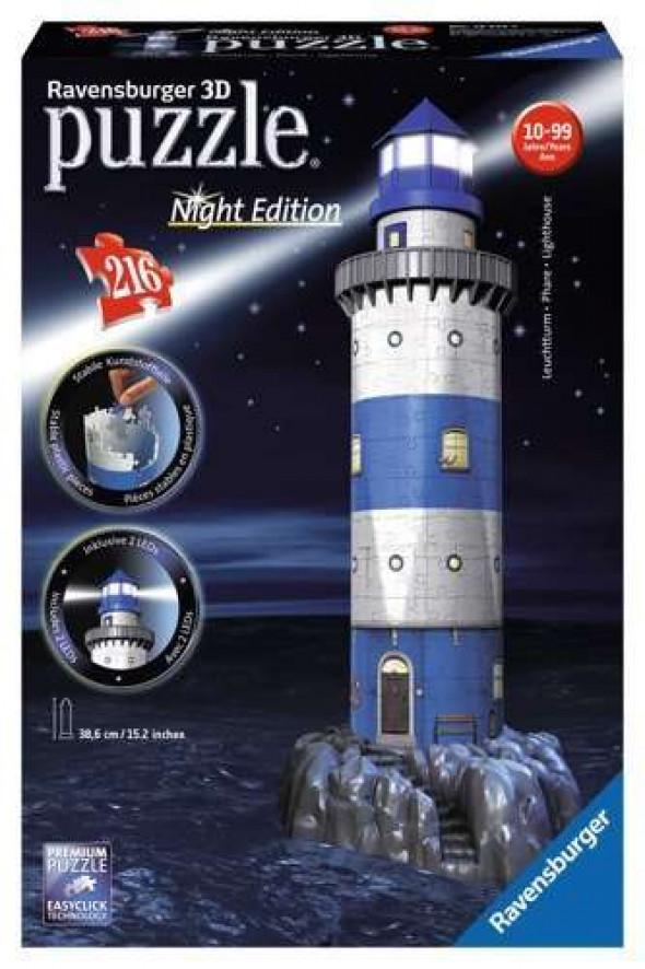 Ravensburger RAP125777: Puzzle 3D: Latarnia nocą, 216el.