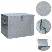 vidaXL Aluminiowa skrzynia, 610 x 430 x 455 mm, srebrna