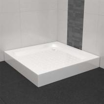 vidaXL Brodzik prysznicowy, 80 x 80 x 13,5 cm, akrylowy, biały