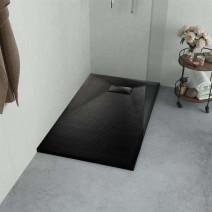 vidaXL Brodzik prysznicowy, SMC, czarny, 100 x 70 cm