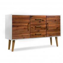 vidaXL Kredens z litego drewna akacjowego, 115 x 35 x 70 cm