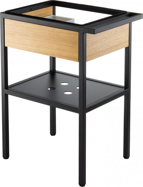 Deante Konsola łazienkowa stojąca z szufladą 56,5x40x75 cm czarny CSD_X50B