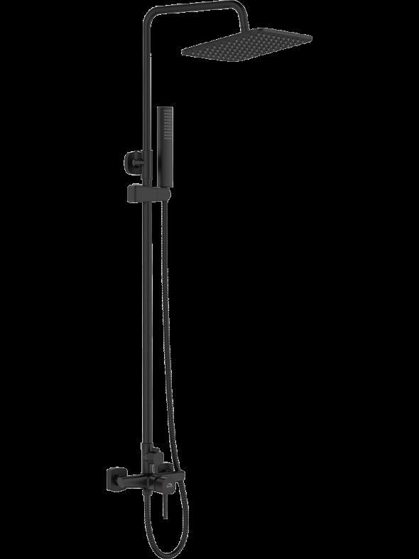Kolumna natryskowa z baterią Laveo Pola czarny PLA_70KX