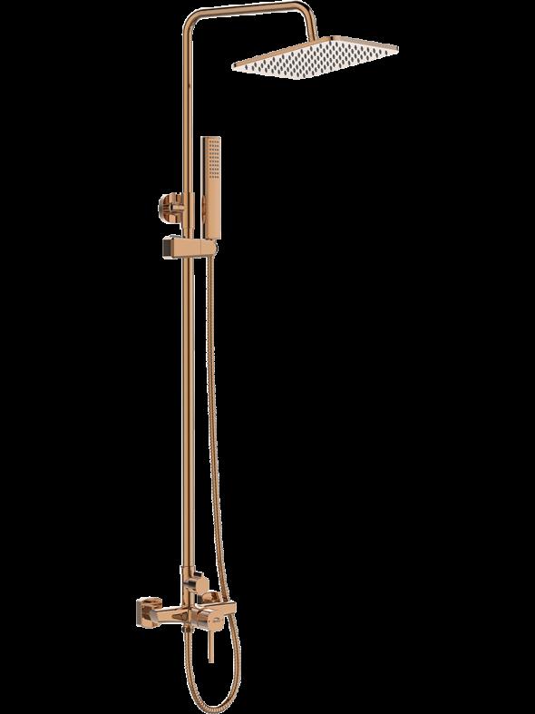 Kolumna natryskowa z baterią Laveo Pola różowe złoto PLA_80KX