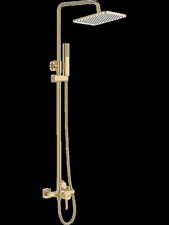 Kolumna natryskowa z baterią Laveo Pola złoto PLA_G0KX