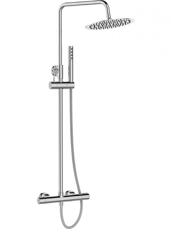 Kolumna natryskowa z baterią Laveo Pretto chrom PLP_00OB