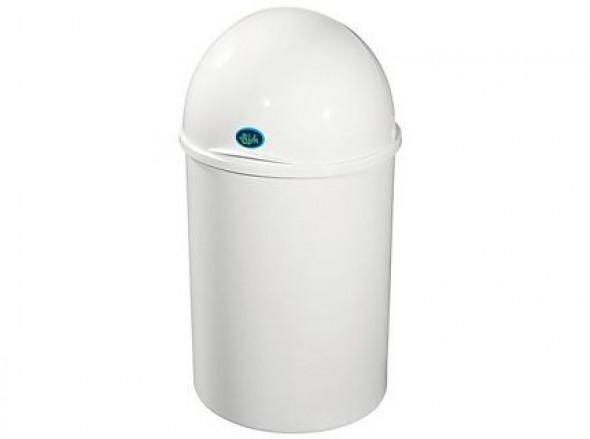 Kosz na śmieci Bisk 15l biały 93002