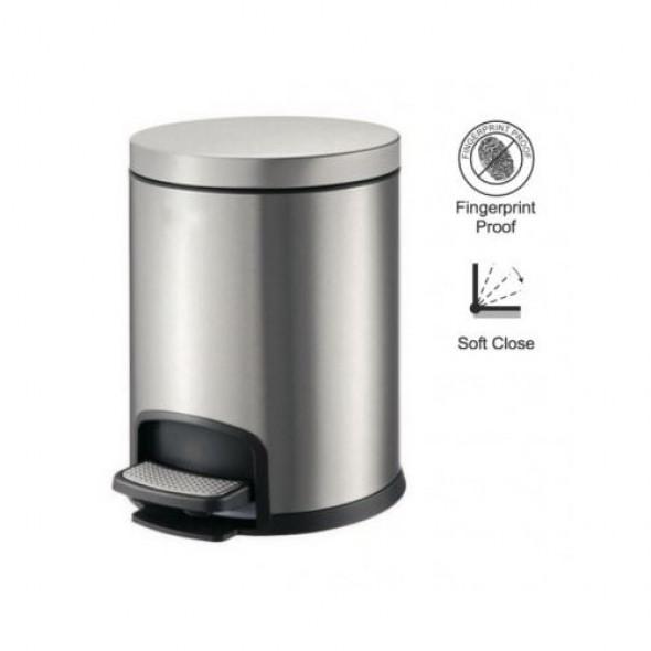 Kosz pedałowy PREMIUM okrągły 5 L Stella srebrny 20.20105 _