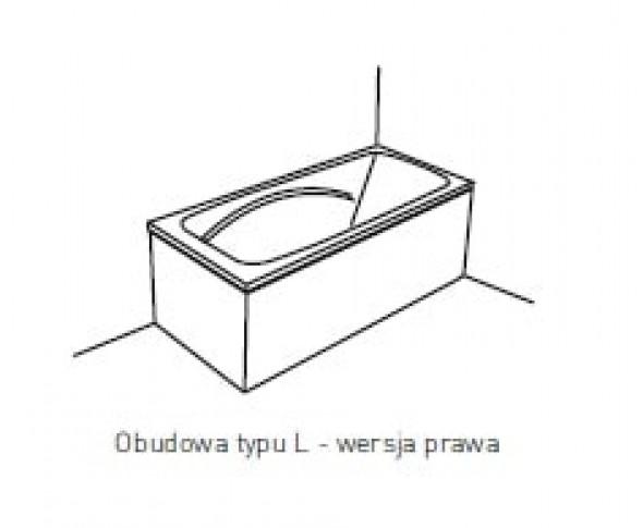 Obudowa jednoczęściowa typu L Pool-Spa 160x70 prawa do wanny Klio PWOKF..OWL00000