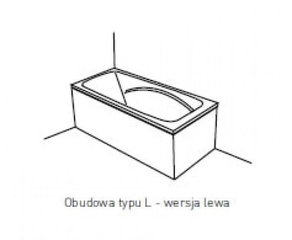 Obudowa jednoczęściowa typu L Pool-Spa 170x70 lewa do wanny Klio PWOHG..OWL00000