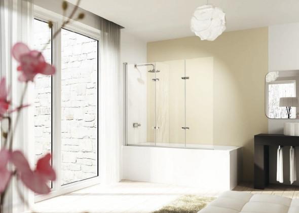 Parawan nawannowy Huppe Design elegance 3-częściowy Prawy 120cm 8E6601.087.322 Anti-plaque
