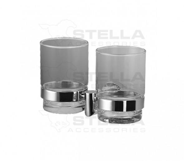Uchwyt dwie szklanki bezbarwne Stella 07.412.1