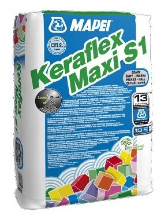 Zaprawa klejąca do płytek i kamienia Mapei Keraflex Maxi S1 szara 25 kg