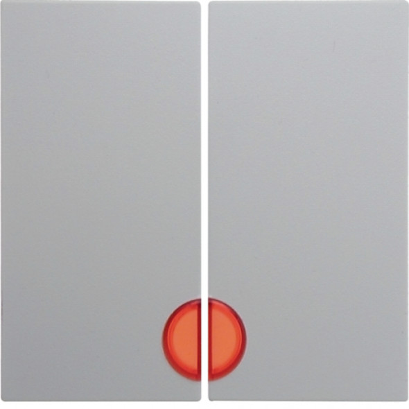 Berker Kwadrat biały - klawisz świecznikowy podświetlany 5316278999