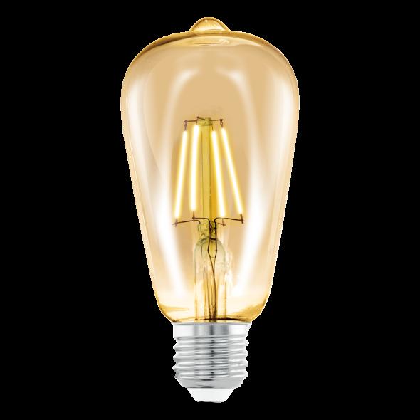 Eglo 11521 Żarówka Vintage Edison 4W LED E27 Ciepła biała barwa 2200K 220lm