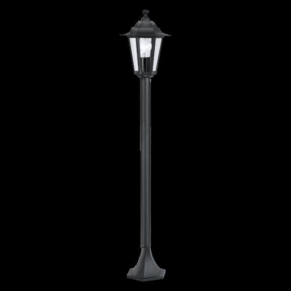 Eglo 22144 Laterna 4 1x60W Lampa stojąca zewnętrzna czarny