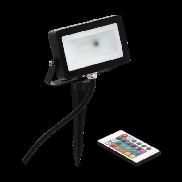 Eglo Faedo 4 98185 Lampa dogruntowa Naświetlacz ściemnialny nowoczesny 1x10W LED RGB czarny biały