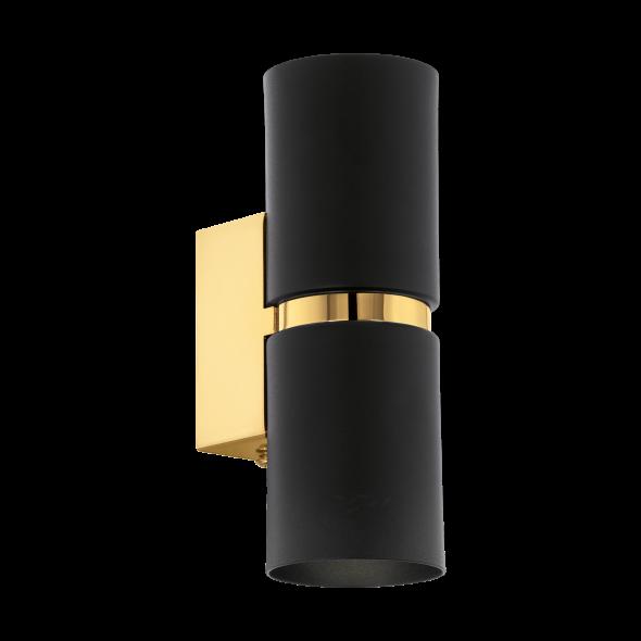 Eglo Passa 95364 Lampka ścienna kinkiet 2x3.3W LED czarna złota