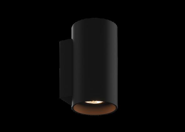 Zuma Line Sandy WL Round Black 92696 Lampa oprawa ścienna Kinkiet Spot 2x50W czarny