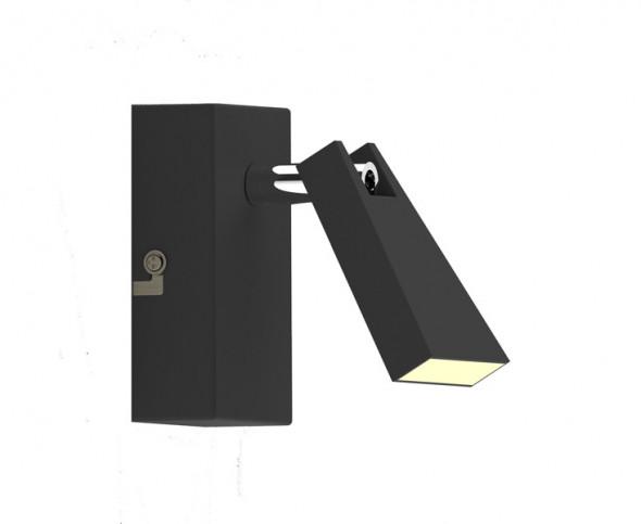 Zuma Line Spazio CK99603A-1B Lampa oprawa ścienna Kinkiet Spot 1x5W LED czarny