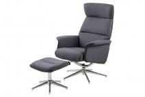 Fotel z podnóżkiem Alura ciemnoszary