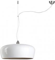 Lampa wisząca bambusowa Hanoi biała 60x25cm