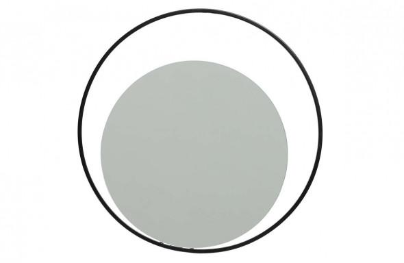 Lustro Luella okrągłe metalowe czarne