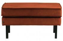 Stołek Rodeo aksamitny rdzawy