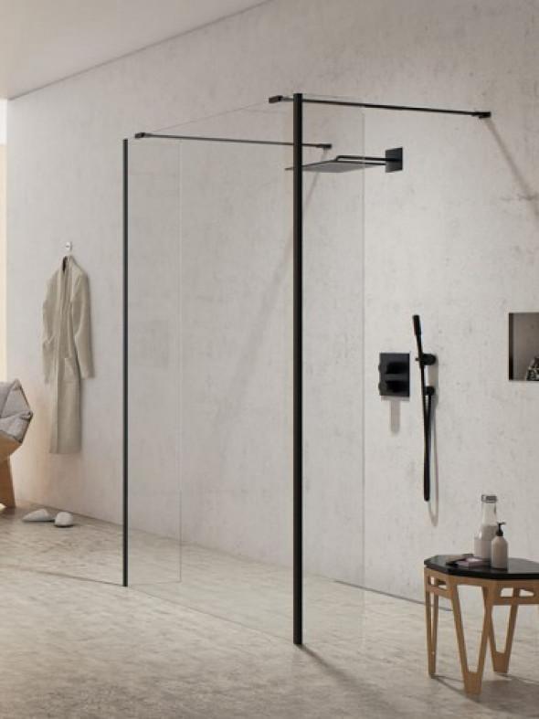 New Trendy walk-in NEW MODUS BLACK 130x200 EXK-0094 Ścianka 1