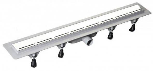 Polysan ROAD odpływ liniowy plastikowy rusztem ze stali nierdzewnej, 820x123x68 mm 71674