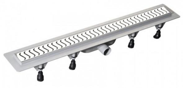 Polysan SCENE odpływ liniowy plastikowy rusztem ze stali nierdzewnej, 720x123x68 mm 71676