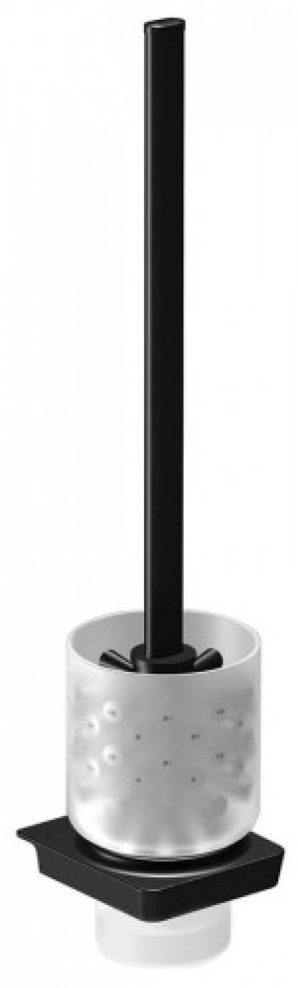 Sapho Zen Black szczotka WC naścienna 166497