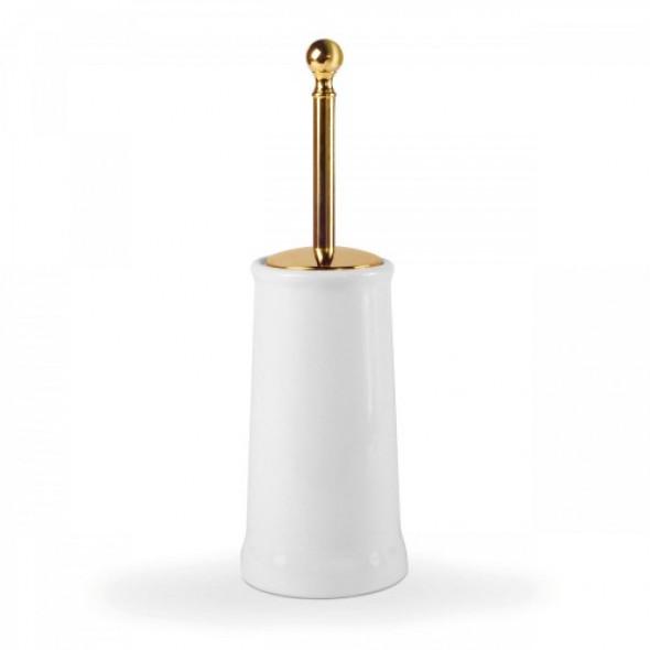 Tres clasic Naziemny ceramiczny pojemnik na szczotkę w kolorze złotym 02463604OR