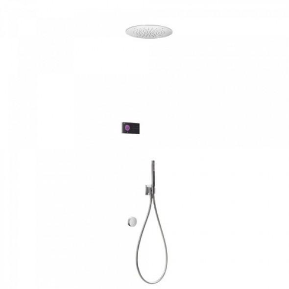 Tres SHOWER TECHNOLOGY Podtynkowy termostatyczny elektroniczny zestaw nawannowy SHOWER TECHNOLOGY 092.883.22