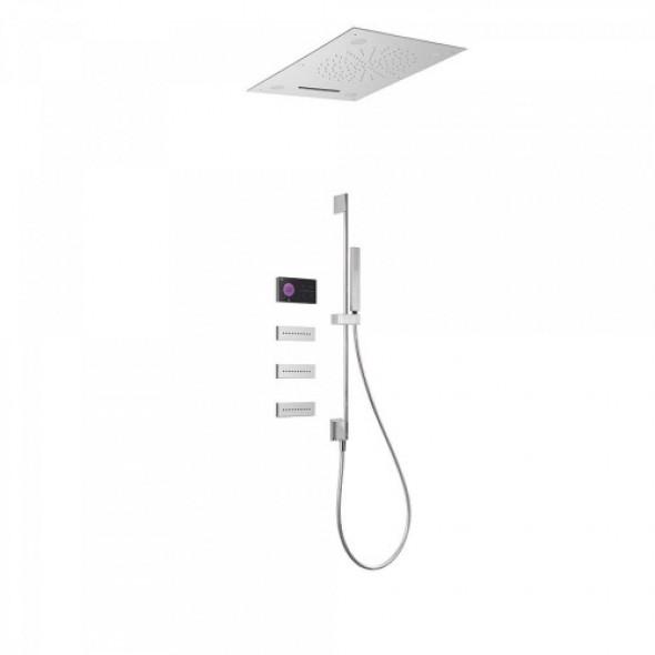 Tres SHOWER TECHNOLOGY Podtynkowy termostatyczny elektroniczny zestaw prysznicowy SHOWER TECHNOLOGY CHROMOTERAPIA 092.884.01