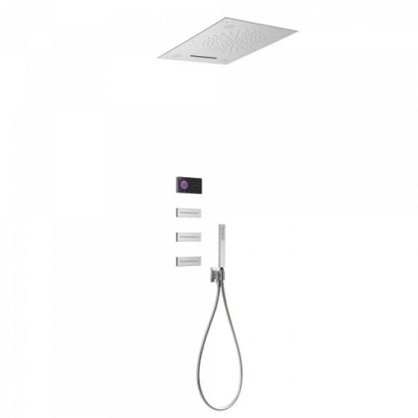 Tres SHOWER TECHNOLOGY Podtynkowy termostatyczny elektroniczny zestaw prysznicowy SHOWER TECHNOLOGY CHROMOTERAPIA 092.884.02