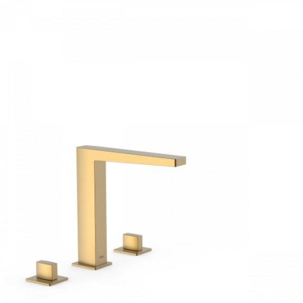 Tres SLIM-TRES Dwuuchwytowe baterie nablatowe złoty mat 202.105.01.OM