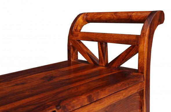 Ażurowa skrzynia  z litego drewna COL-117-A-120 cm   -Kolekcja Colonial